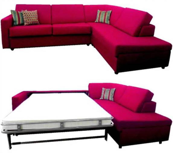 sovesofa med springmadras KC Møbler   BEDinside sovesofaer der trækkes frem i stuen med  sovesofa med springmadras