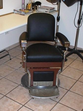 7 stol betrukket med læder