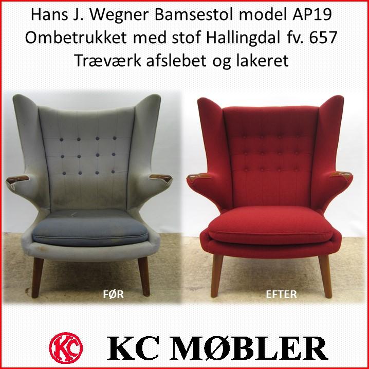 KC Møbler ombetrækning og ompolstring af alle typer stole