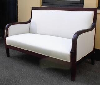gammel hvid stol