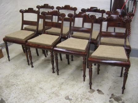 KC Møbler - ombetrækning af spisebordssstole